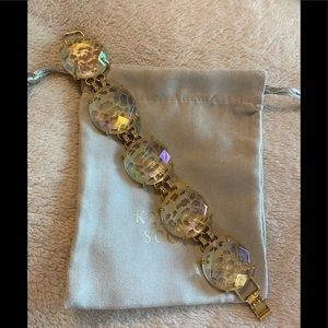 EUC Kendra Scott Clear Iridescent Cassie Bracelet